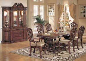 Reuben 9 piece formal dining room set china cabinet new ebay for 9 piece formal dining room sets