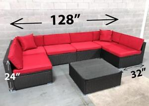 Patio furniture wicker outdoor ALUMINUM FRAME - INCLUDED! 6476998240 conversation set