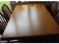Oak Dining Table with farmhouse country shaker style chairs