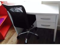Desk drawers and chair