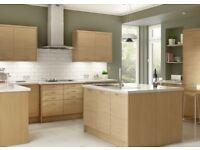 6 Piece Oak Slab Kitchen Units - BRAND NEW