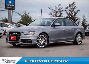 2015 Audi A4 2.0T Komfort, Heated Seats, Sunroof, AWD