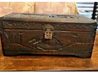 Oriental Camphor Chest - Storage Box - Blanket Box
