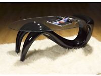 FIBER COATED COFFEE TABLE -STYLISH YET STRONG FOR LONG LASTING USE -RETRO MODERN DESIGN