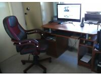 Walnut colour P/c office desk and /Executive chair