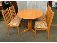 Small Extending Dining Table & 4 Chairs