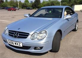 MERCEDES BENZ CLK200 AVANTGARDE 1.8 FSH,Baby light blue,ONLY 79000Genuine miles with full History