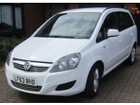 2013 VAUXHALL ZAFIRA EXCLUSIVE (7 SEATER) PETROL ONE OWNER