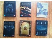 Game of Thrones (GoT) - Seasons 1 - 6 separate box sets