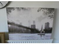 New York Scene - Printed Cloth on Frame
