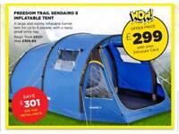 Freedom trail sendairo 5 inflatable tent 4 berth.