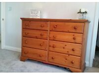 Lindale pine triple wardrobe & chest of 8 drawers