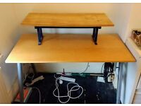 Adjustable height IKEA GALANT desk with removable monitor stand