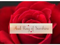 Aud-Ray of Sunshine Spray Tans professional tanning expert using Fake Bake and LA Tan products