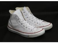 Mens white leather converse size 8