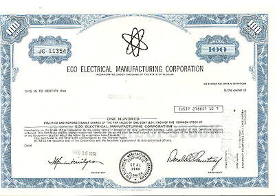 ECO Electrical Manufacturing Corporation blau