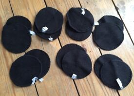 Little lamb black bamboo breast pads