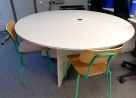 Round Office Table: free! - Seats 4, Good Condition