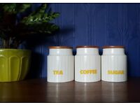 Gorgeous Hornsea by John Clappison Tea, Coffee and Sugar Set