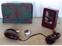 Vintage 1950's Philips PHILISHAVE Bakelite Travel Shaver With Case. Tested & Working