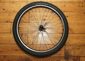 """Shimano Deore HB-M510 26"""" Front Wheel Complete with 2.10"""" Tyre"""