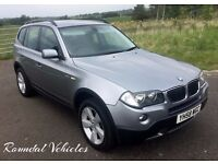 2008 58 BMW X3 2.0d SE 4x4, charcoal half leather sport int FSH 12 mths mot 2 keys