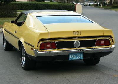 1972 Ford Mustang MACH 1 351 Q CODE COBRA JET - A/C REFRESHED CALIFORNIA SURVIVOR - COBRA JET - 1972 Ford Mustang Mach 1 351CJ