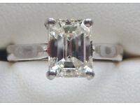 Diamond Solitaire 1.71 ct H/I, VS/S1 Platinum ring