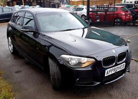 BMW 1 SERIES 2.0 118D M SPORT 5d AUTO 141 BHP Apply for finance (black) 2014