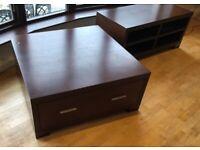 Dark Wood coffee table & TV unit