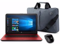 BRAND NEW IN BOX - HP LAPTOP WITH Intel Pentium 4GB 1TB Red INCLUDING BAG,MOUSE&MACAFEE VIRUS