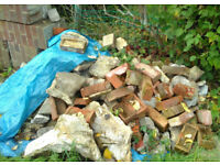FREE BRICKS / CONCRETE RUBBLE. Ideal for general outdoor/garden use or landscaping a garden.
