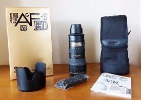 Nikon Nikkor 70-200mm AF-S VR f2.8G IF-ED Pro Lens