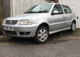 VW Polo SE-silver metallic -July 2001- low mileage