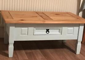 Coffee table - duck egg blue