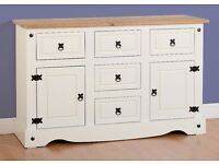 New white Cream or grey Corona Large sideboard IN STOCK NOW