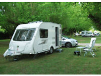 Swift Corniche 12-2, { 2 Berth Caravan with a rear kitchen in Very Good Condition }