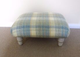 Wool fabric footstool with painted legs
