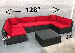 Outdoor Patio Furniture Wicker Set ALUMINUM FRAME conversation set 6476998240