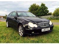 Mercedes-Benz C Class C180 Coupe, MOT September, AUTOMATIC, Bluetooth handsfree, Low 77k mileage