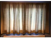 John Lewis lined pencil pleat curtains