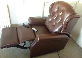CAN DELIVER Celebrity Woburn Brown Leather Riser Recliner Chair Rise Recline