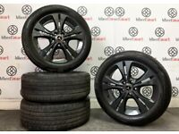 """GENUINE MERCEDES A/B CLASS 17"""" ALLOY WHEELS & GREAT CONDITION TYRES - 5 x 112 - GLOSS BLACK"""