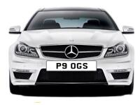 Private registration plate P9 OGS