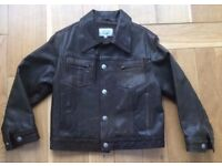 Childrens Armani Junior Leather Jacket - Age 8 years old - £35