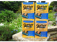 4 Boxes of Gutter Gard. Stops leaves, twigs and other debris from blocking gutters.