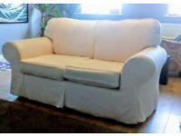 2 Seater Cream/Off-White Sofa