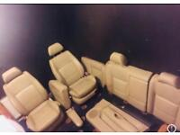 VW Volkswagen Golf MK4 Heated Cream Leather Seats Car Parts