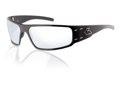 b36a7621c6 NEW Gatorz Magnum BLACK Aluminum Scratch Resistant Chrome Lens Sunglasses