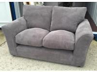 Grey Fabric 2 Seater Sofa (ex display )